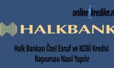 Halk Bankası Özel Esnaf ve KOBİ Kredisi Başvurusu Nasıl Yapılır