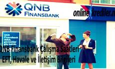QNB Finansbank Çalışma Saatleri : EFT, Havale, İletişim Bilgileri