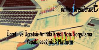 Ücretli ve Ücretsiz Anında Kredi Notu Sorgulama Yapabileceğiniz 8 Platform