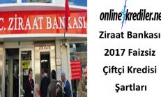 Ziraat Bankası 2019 Faizsiz Çiftçi Kredisi Şartları