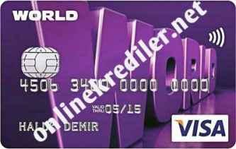 yapi kredi world kredi karti online basvuru nasil yapilir internet ve sms ile
