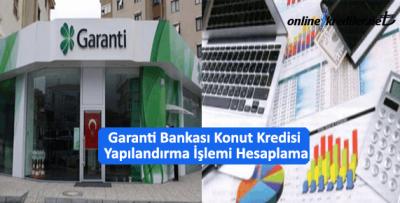 Garanti Bankası Konut Kredisi Yapılandırma İşlemi Hesaplama