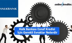 Halk Bankası Esnaf Kredisi İçin Gerekli Evraklar Nelerdir