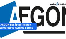 08502220312 AEGON BES İptali Telefon ve Ayrılma Formu