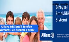 Allianz BES İptali Telefon  Numarası ve Ayrılma Formu