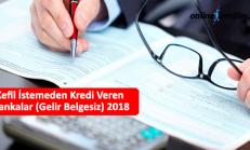Kefil İstemeden Kredi Veren Bankalar (Gelir Belgesiz) 2018