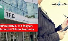 08502000666 TEB Müşteri Hizmetleri Telefon Numarası