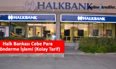Halk Bankası Cebe Para Gönderme İşlemi (Kolay Tarif)