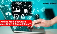 Online Kredi Başvurusu Yapabileceğiniz 10 Banka (20 bin TL)