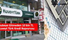 Şubeye Gitmeden 10 bin TL Kuveyt Türk Kredi Başvurusu