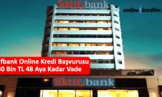 Aktifbank Online Kredi Başvurusu 30 Bin TL 36 Aya Kadar Vade