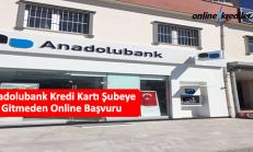 Anadolubank Kredi Kartı Şubeye Gitmeden Online Başvuru