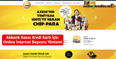Akbank Axess Kredi Kartı İçin Online İnternet Başvuru Yöntemi