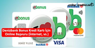 Denizbank Bonus Kredi Kartı İçin Online Başvuru (İnternet, vs.)