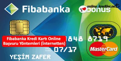 Fibabanka Kredi Kartı Online Başvuru Yöntemleri (İnternetten)