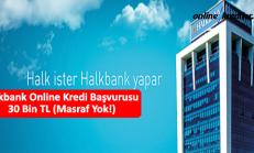 Halkbank Online Kredi Başvurusu 30 Bin TL (Masraf Yok!)