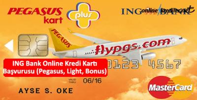 ING Bank Online Kredi Kartı Başvurusu (Pegasus, Light, Bonus)