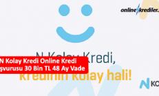 N Kolay Kredi Online Kredi Başvurusu 30 Bin TL 36 Ay Vade