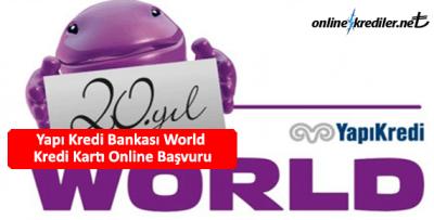 Yapı Kredi Bankası World Kredi Kartı Online Başvuru