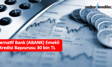 Alternatif Bank (ABANK) Emekli Kredisi Başvurusu 30 bin TL