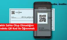 Çekin Sahte Olup Olmadığını Findeks QR Kod ile Öğrenmek