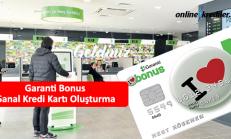 Garanti Bonus Sanal Kredi Kartı Oluşturma