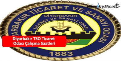 Diyarbakır TSO Ticaret Odası Çalışma Saatleri