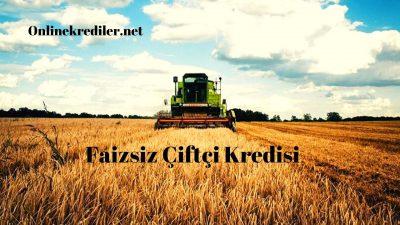 Ziraat Bankası 2020 Faizsiz Çiftçi Kredisi Şartları