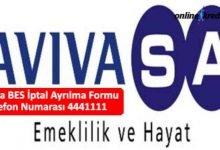 Photo of Avivasa BES İptal Ayrılma Formu Telefon Numarası 4441111