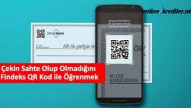 Photo of Çekin Sahte Olup Olmadığını Findeks QR Kod ile Öğrenmek