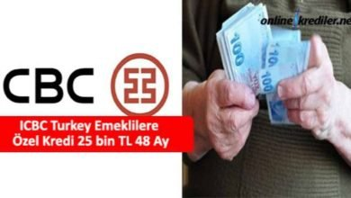 Photo of ICBC Turkey Emeklilere Özel Kredi 25 bin TL 36 Ay