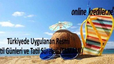 Photo of Türkiyede Uygulanan Resmi Tatil Günleri ve Tatil Süreleri (TAMAMI)